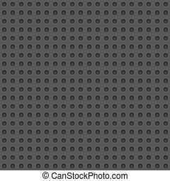 Dark Perforated Board Seamless Background Tile - Dark...