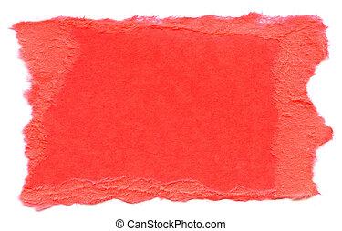 Dark Pink Fiber Paper - Torn Edges