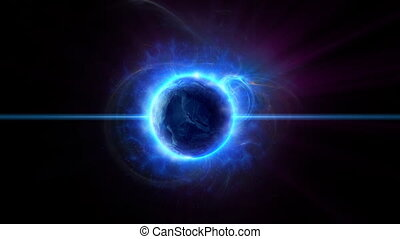 Dark planet with gas and magnetic field activity in deep space