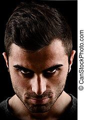 dark portrait of a man dark portrait of a man