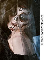 dark portrait of muertos