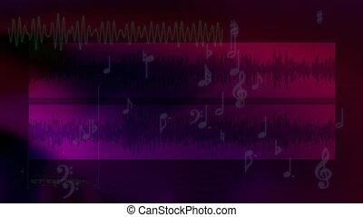 Dark purple audio background