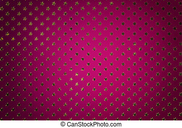 Dark purple background from metal foil paper with a golden stars pattern.
