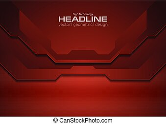 Dark red abstract corporate technology background