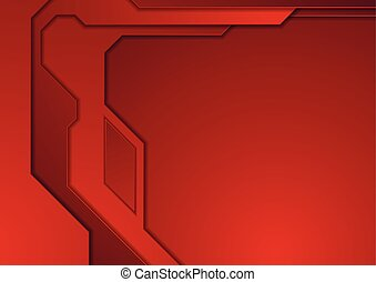 Dark red abstract futuristic technology background