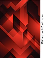 Dark red abstract geometric background