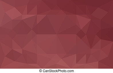 Dark red abstract triangular low poly picture as background