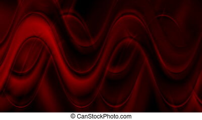 Dark red abstract wavy video animation