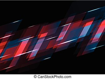 Dark red and blue abstract tech background