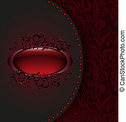 Dark red card
