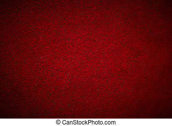 red cowhide suede texture with vignette, full frame