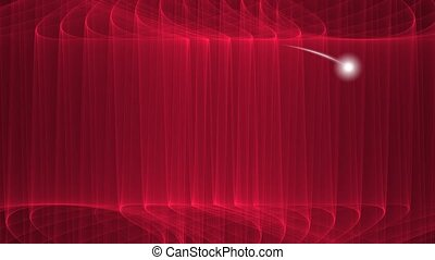 Dark red curves background with little white cosmic object...