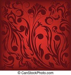 dark red floral background