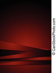 Dark red graphic background with stripes