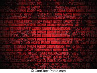 Dark red grunge brick wall background