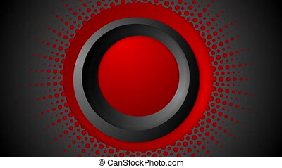 Dark red halftone circles video animation