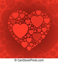 Dark red heart shape on maroon background