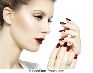 Dark Red MakeUp