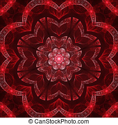 Dark red mandala - Abstract dark red mandala design in...