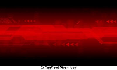 Dark red sci-fi technology abstract motion design. Video...