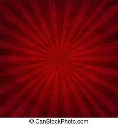 Dark Red Sunburst Background