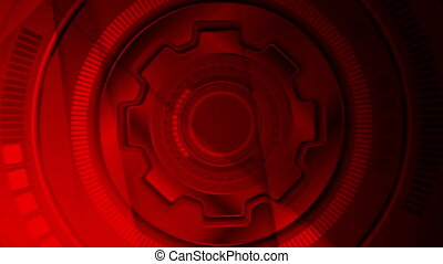 Dark red tech futuristic abstract video animation