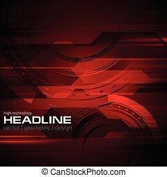 Dark red technology geometric background