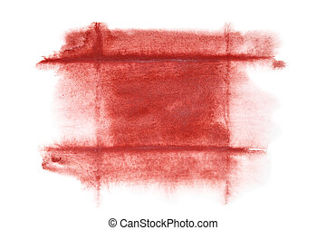 Dark red watercolor frame - abstract background or space for...