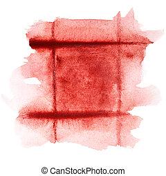 Dark red watercolor frame - Square dark red watercolor frame...
