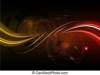 background - dark red wave abstract background