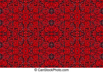 dark red with droplets Red natural roses background