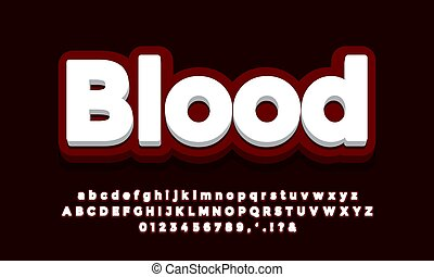 dark red with white 3d font effect or text effect design