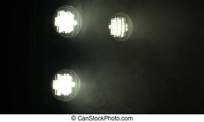Dark room lights the floodlights
