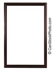 Dark round border wooden frame
