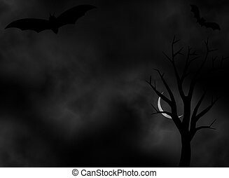 Dark scary Night background - A dark night background vector...