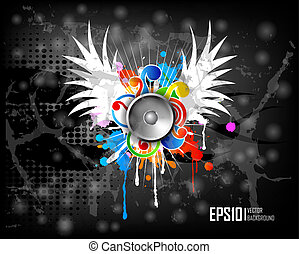 Dark scratch grunge background. Vector illustration eps10