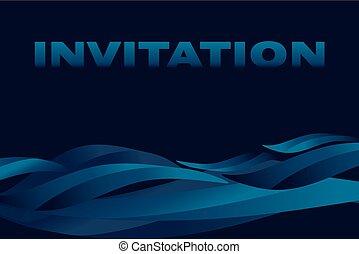 dark sea background vector illustration