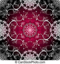 Dark seamless pattern