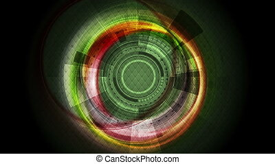 Dark shiny technology sci-fi motion graphic design - Dark...