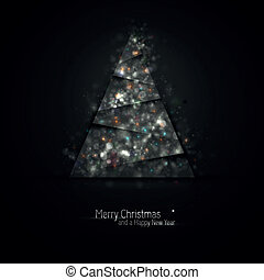 Dark Silver Christmas Greeting
