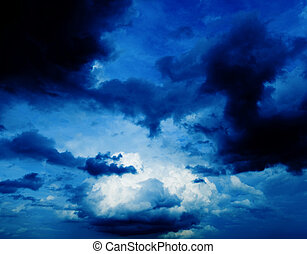 Dark sky.
