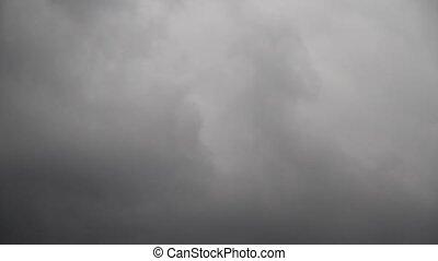Dark Sky - Dark clouds moving in the Sky.