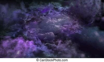 Dark Sky in Purple Tones