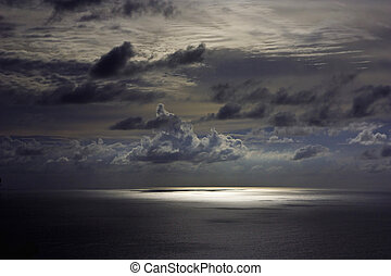 Dark sky over andaman sea