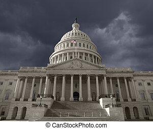 Dark Sky over the United States Capitol - Dark sky over the...