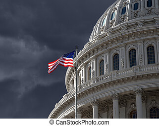 Dark Sky over US Capitol Building