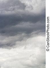 dark sky with overcast clouds before heavy rain