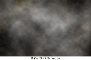 Dark smoke background - Editable vector illustration of...