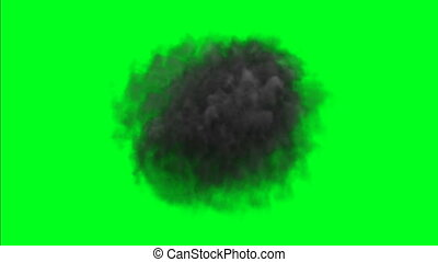 Dark Smoke Fog Dust on green screen