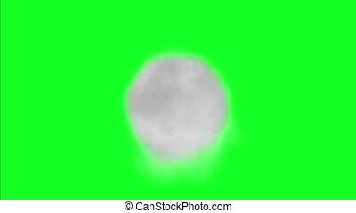 Dark Smoke Fog Dust On Green Screen